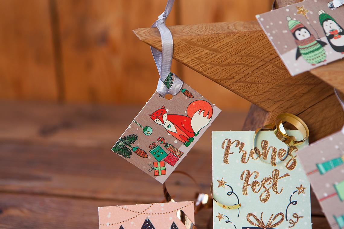 Geschenkanhänger mit Fuchs