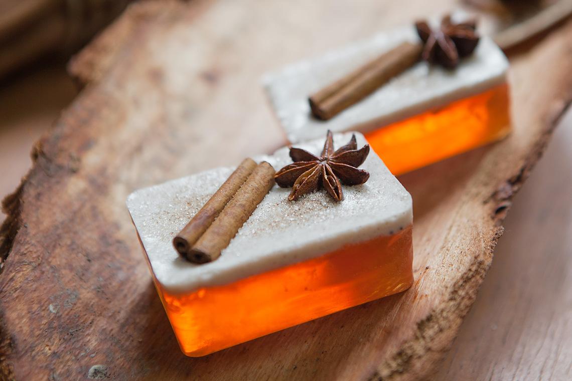 winterliche Orangen-Zimt Seife aus dem Adventskalender