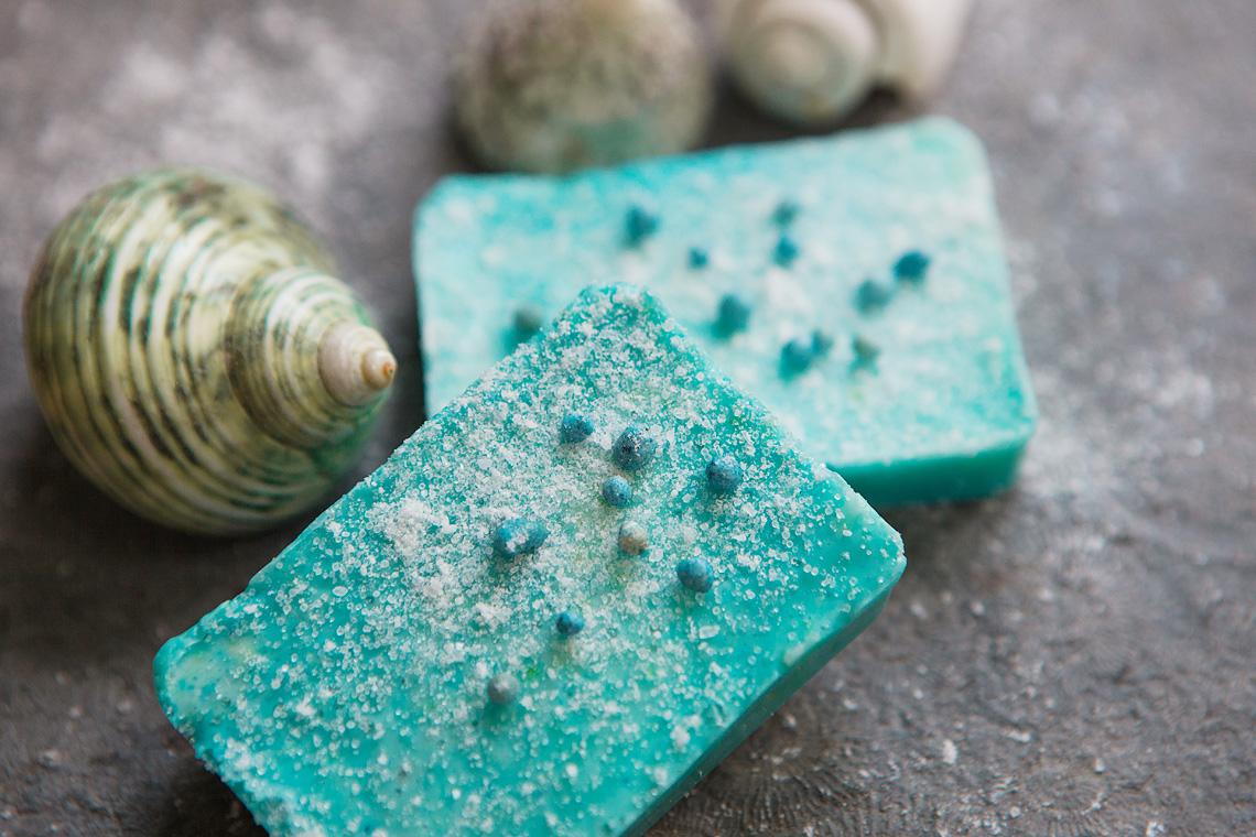 Seife mit Meersalz aus dem Adventskalender