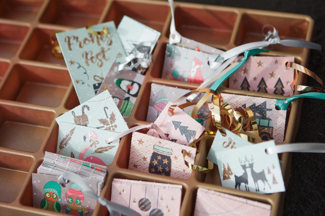 Adventskalender Organizer für Kärtchen und Geschenkanhänger